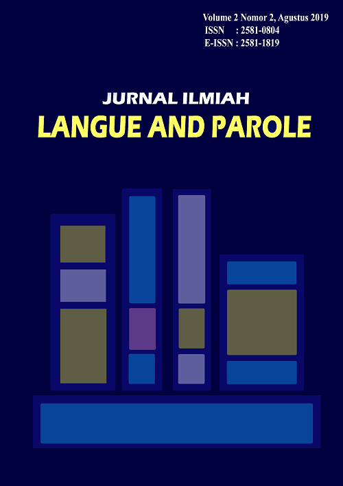 jurnal jilp #vol2no2 #2019 #jilp #unes #sastra
